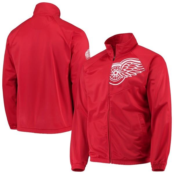 カールバンクス メンズ ジャケット&ブルゾン アウター Detroit Red Wings G-III Sports by Carl Banks Synergy Full-Zip Track Jacket Red