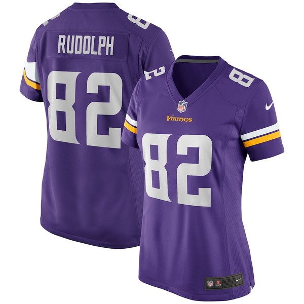 ナイキ レディース シャツ トップス Kyle Rudolph Minnesota Vikings Nike Women's Game Jersey Purple