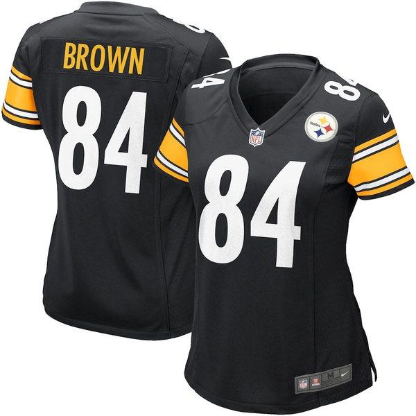 ナイキ レディース シャツ トップス Antonio Brown Pittsburgh Steelers Nike Women's Game Jersey Black