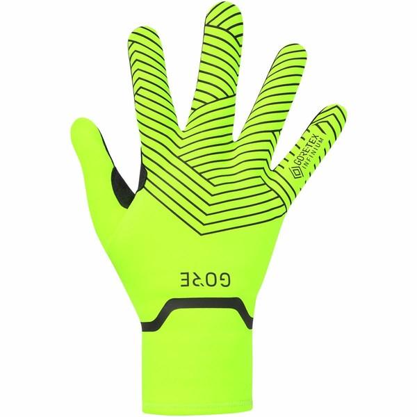 ゴアウェア レディース サイクリング スポーツ C3 Gore-tex Infinium Stretch Mid Gloves Neon Yellow/Black