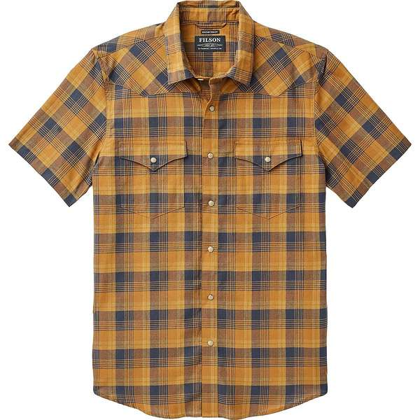 フィルソン メンズ シャツ トップス Snap Front Guide Short-Sleeve Shirt - Men's Bronze/Navy