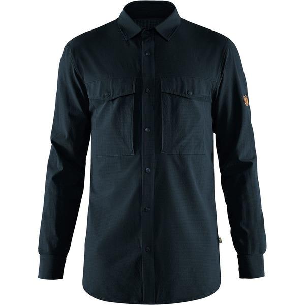 フェールラーベン メンズ シャツ トップス Abisko Trekking Shirt - Men's Dark Navy