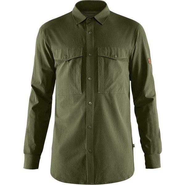フェールラーベン メンズ シャツ トップス Abisko Trekking Shirt - Men's Laurel Green