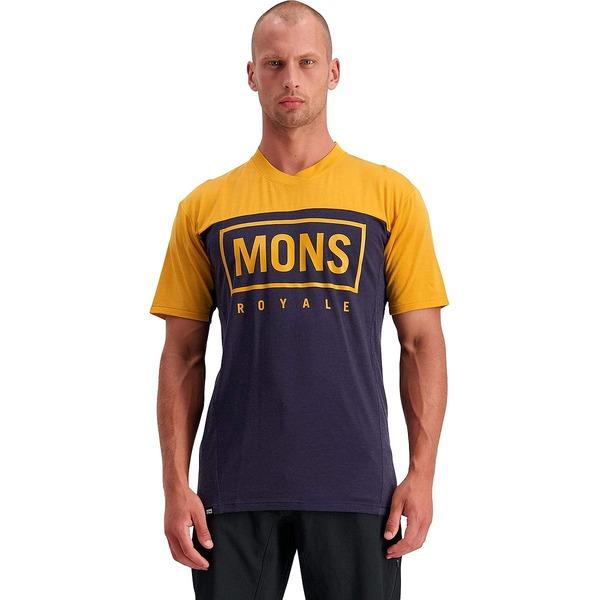 モンスロイヤル メンズ サイクリング スポーツ Redwood Enduro VT Jersey - Men's Gold/Nine Iron