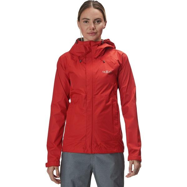 ラブ レディース ジャケット&ブルゾン アウター Downpour Hooded Jacket - Women's Firecracker