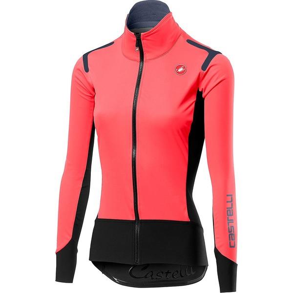 カステリ レディース サイクリング スポーツ Alpha RoS Jacket - Women's Brilliant Pink/Black
