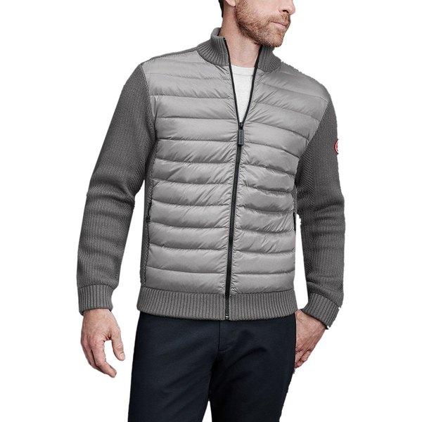 カナダグース メンズ ジャケット&ブルゾン アウター HyBridge Knit Jacket - Men's Iron Grey