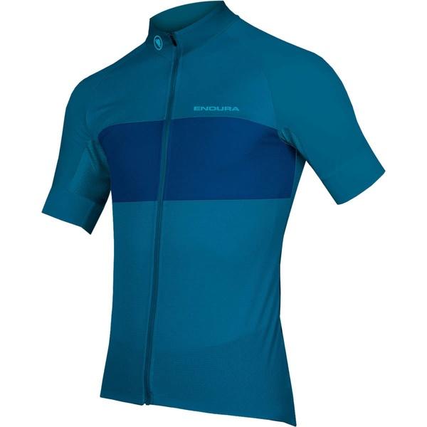エンデュラ メンズ サイクリング スポーツ FS260-Pro II Short-Sleeve Jersey - Men's Kingfisher