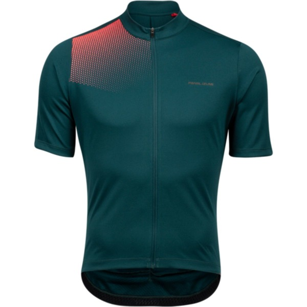 パールイズミ メンズ サイクリング スポーツ Tour Jersey - Men's Pine/Atomic Red Transform