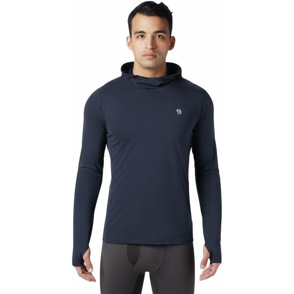 マウンテンハードウェア メンズ Tシャツ トップス Ghee Hooded Baselayer Top - Men's Dark Zinc