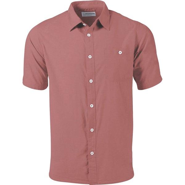 マウンテンカーキス メンズ シャツ トップス Mountain Chambray Short-Sleeve Shirt - Men's Sumac