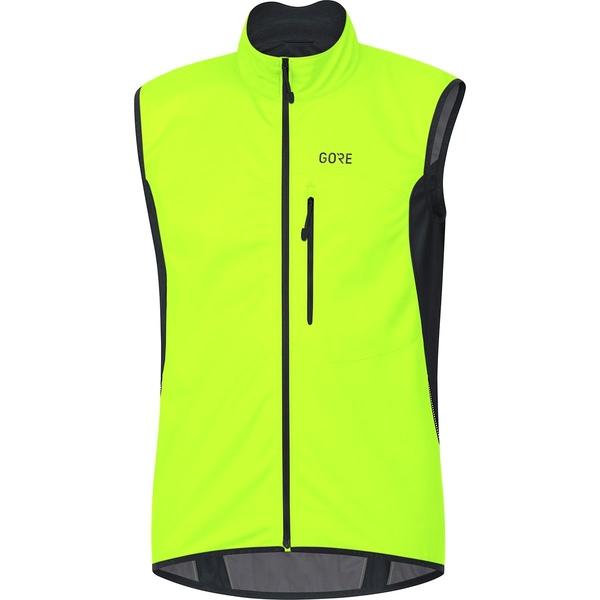 ゴアウェア メンズ サイクリング スポーツ C3 Gore Windstopper Vest - Men's Neon Yellow/Black