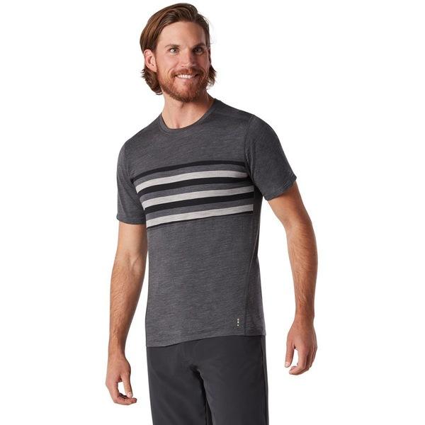 スマートウール メンズ シャツ トップス Merino 150 Colorblock Short-Sleeve Shirt - Men's Iron Heather
