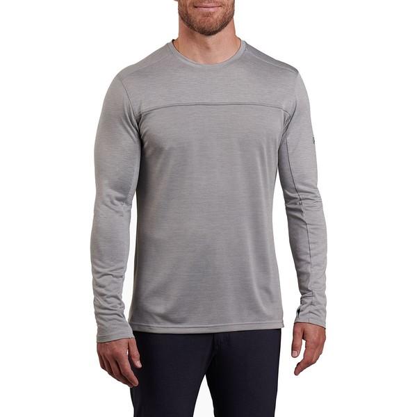 キュール メンズ シャツ トップス Aktiv Engineered Long-Sleeve Shirt - Men's Cloud Gray