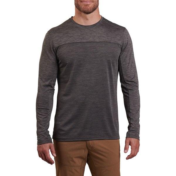 キュール メンズ シャツ トップス Aktiv Engineered Long-Sleeve Shirt - Men's Lead Gray