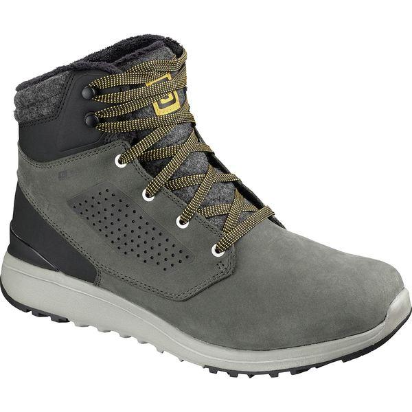 サロモン メンズ ブーツ&レインブーツ シューズ Utility Winter CS WP Boot - Men's Beluga/Black/Green Sulphur