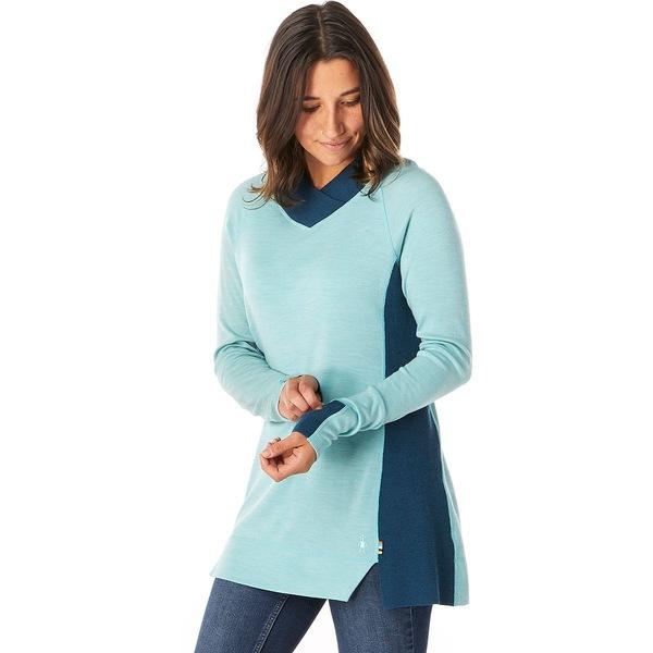 スマートウール レディース ニット&セーター アウター Merino 250 Trend Tunic Sweater - Women's Nile Blue Heather