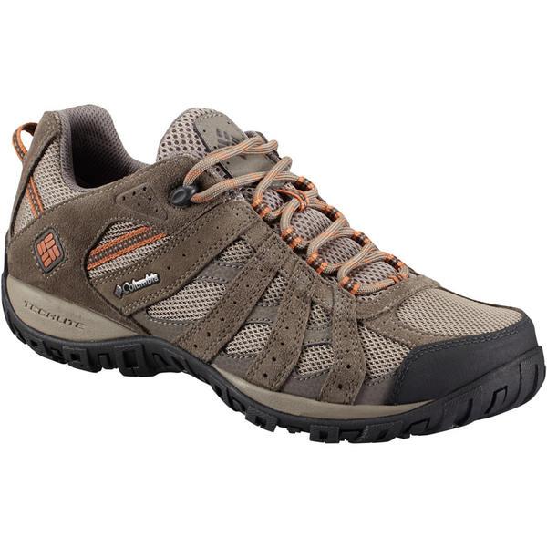 コロンビア メンズ スニーカー シューズ Redmond Waterproof Hiking Shoe - Men's Pebble/Dark Ginger