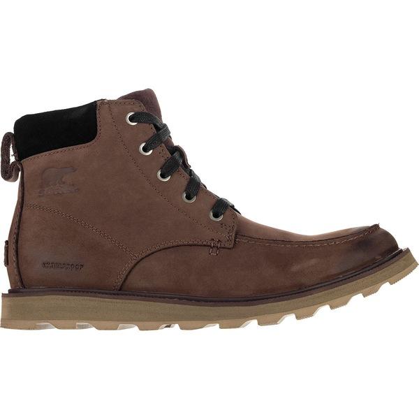 ソレル メンズ ブーツ&レインブーツ シューズ Madson Moc Toe Waterproof Boot - Men's Bruno/Black