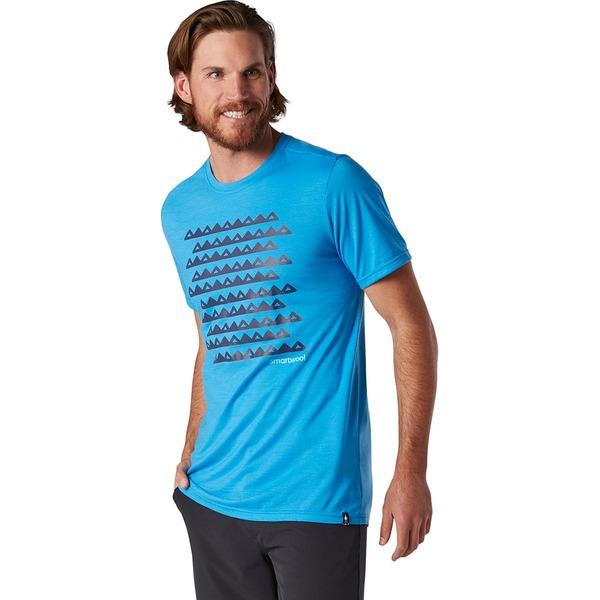 スマートウール メンズ シャツ トップス Merino Sport 150 Sawtooth Range T-Shirt - Men's Ocean Blue