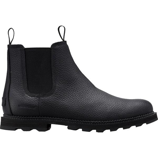 ソレル メンズ ブーツ&レインブーツ シューズ Madson Chelsea WP Boot - Men's Black/Black
