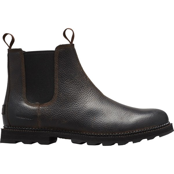 ソレル メンズ ブーツ&レインブーツ シューズ Madson Chelsea WP Boot - Men's Tobacco/Black