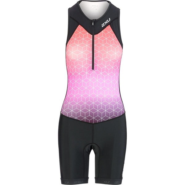2XU レディース フィットネス スポーツ Active Trisuit - Women's Black/Sunset Ombre