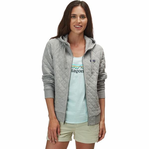 パタゴニア レディース パーカー・スウェットシャツ アウター Organic Cotton Quilt Hooded Jacket Drifter Grey