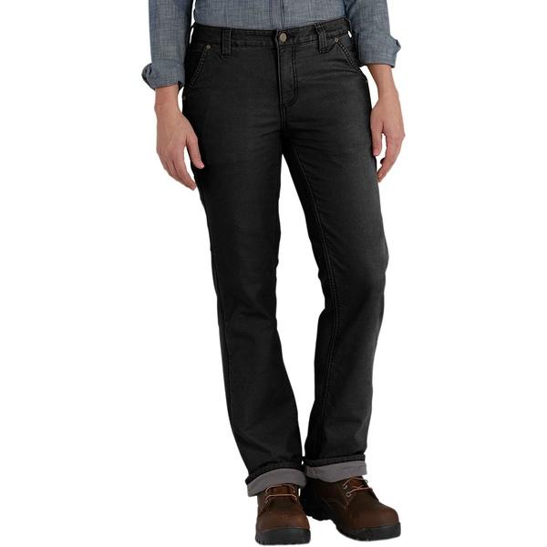 カーハート レディース カジュアルパンツ ボトムス Original Fit Fleece Lined Crawford Pant Black