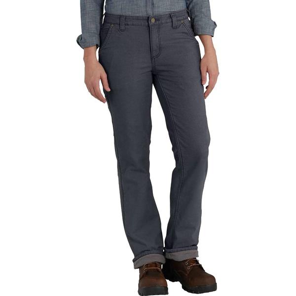 カーハート レディース カジュアルパンツ ボトムス Original Fit Fleece Lined Crawford Pant Coal