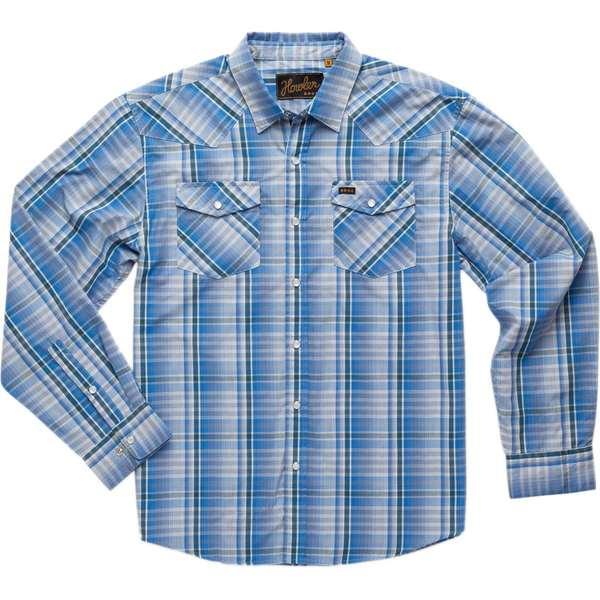 ハウラーブラザーズ メンズ シャツ トップス H Bar B Long-Sleeve Shirt Panhandle Plaid: Deacon Blue