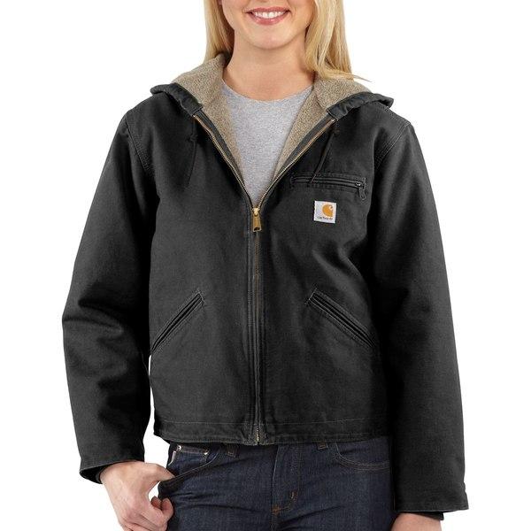 カーハート レディース ジャケット&ブルゾン アウター Sandstone Sierra Hooded Jacket Black