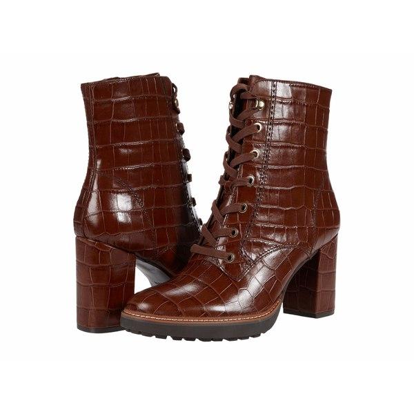 ナチュライザー レディース ブーツ&レインブーツ シューズ Callie Lodge Brown Croco Print Leather