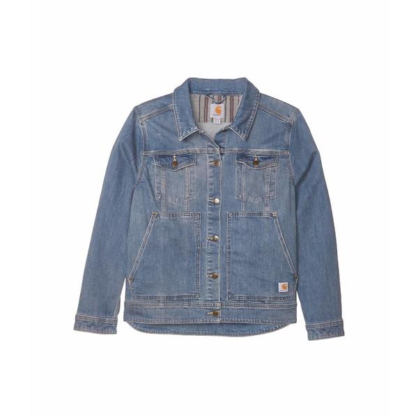 カーハート レディース コート アウター Plus Size Benson Denim Jacket Stonewash