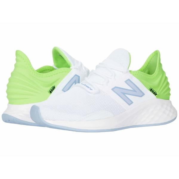 ニューバランス レディース スニーカー シューズ Fresh Foam Roav White/Lime Glow/Frost