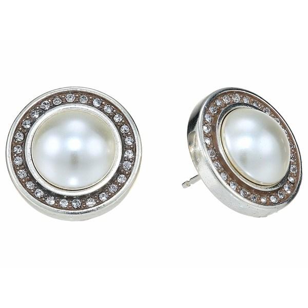 ブライトン レディース ピアス&イヤリング アクセサリー Chara Ellipse Post Earrings Pearl