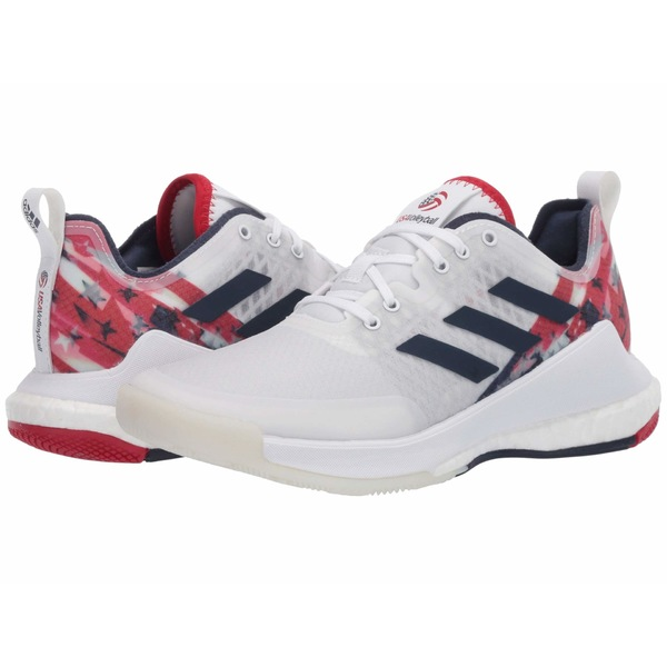 アディダス レディース スニーカー シューズ Crazyflight Usav Edition Footwear White/Collegiate Navy/Power Red