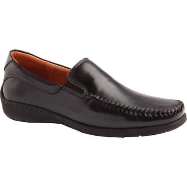 ジョンストンアンドマーフィー 美品 メンズ シューズ スリッポン ローファー Black Full Grain Moccasin 全商品無料サイズ交換 Leather スピード対応 全国送料無料 Tumbled Men's Venetian Crawford