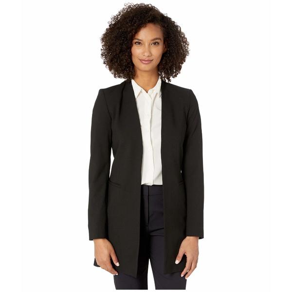 カルバンクライン レディース コート アウター Lux Open No Collar Jacket Black