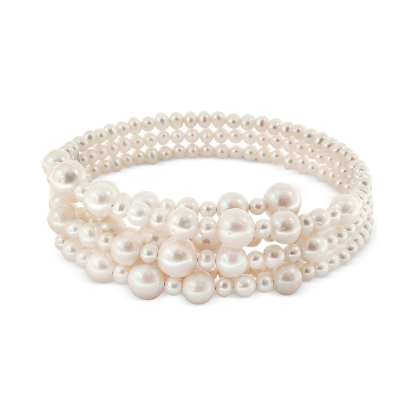 【35%OFF】 エフィー コレクション レディース ネックレス・チョーカー・ペンダントトップ アクセサリー Pearl Lace by EFFY® Cultured Freshwater Pearl (5-1/2, 7-1/2, 10, 12mm) Coil Choker Necklace White, 妙高村 3dd59c62
