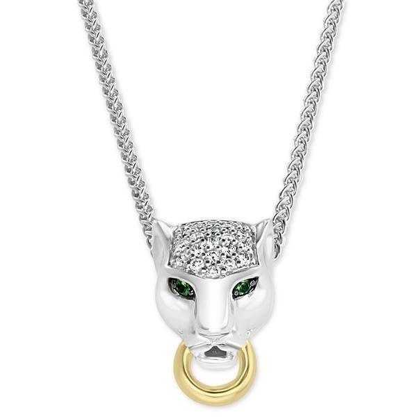 【限定特価】 エフィー コレクション レディース ネックレス・チョーカー・ペンダントトップ アクセサリー Gold EFFY® Diamond Necklace 18k (1/8 ct. t.w.) & Tsavorite Accent Panther Pendant Necklace in Sterling Silver & 18k Gold-Plate 18K Yellow Gold Plated/Sterling Silver, チクマシ:cbd2fe44 --- beautyflurry.com
