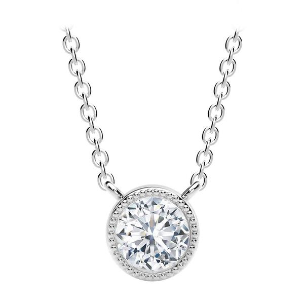 フォーエバーマーク レディース ネックレス Gold・チョーカー 18k・ペンダントトップ アクセサリー Tribute Collection Gold Diamond (1/2 ct. t.w.) Necklace in 18k Yellow, White and Rose Gold White Gold:a7823f7b --- ltcpackage.online
