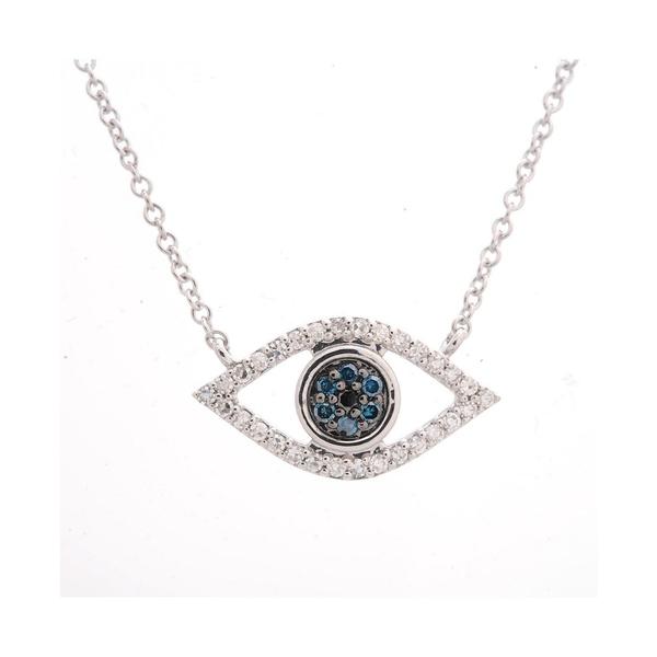 【お気にいる】 ラップド レディース ネックレス・チョーカー for・ペンダントトップ Gold, アクセサリー Diamond Evil-Eye Pendant Macy's Necklace (1/6 ct. t.w.) in 10k Gold or 10k White Gold, Created for Macy's White Gold, グルービーネイル:daef9f65 --- beautyflurry.com