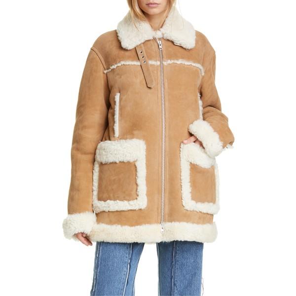 マルタンマルジェラ レディース ジャケット&ブルゾン アウター Maison Margiela Oversized Genuine Shearling Jacket Camel
