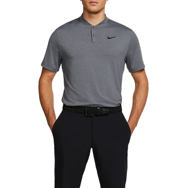ナイキ メンズ ポロシャツ トップス Nike Men's Vapor Blade Collar Golf Polo Black/Pure