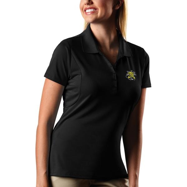 アンティグア レディース ポロシャツ トップス Wichita State Shockers Antigua Women's Pique XtraLite Polo Black