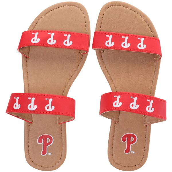 フォコ レディース サンダル シューズ Philadelphia Phillies Women's Double Strap Sandals