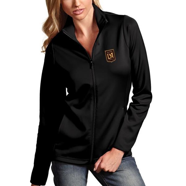 アンティグア レディース ジャケット&ブルゾン アウター LAFC Antigua Women's Leader Full Zip Jacket Black