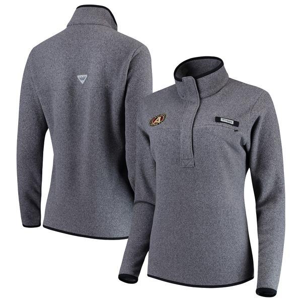 コロンビア レディース ジャケット&ブルゾン アウター Atlanta United FC Columbia Women's Harborside Fleece Pullover Jacket Black