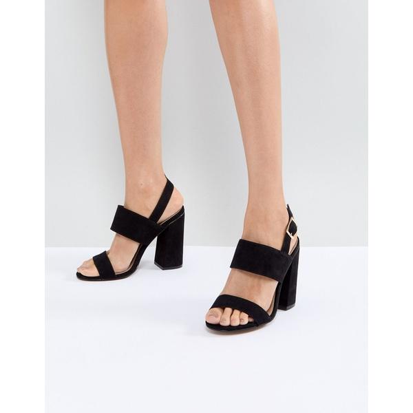 エイソス レディース サンダル シューズ ASOS HUSTLE block heeled sandals Black